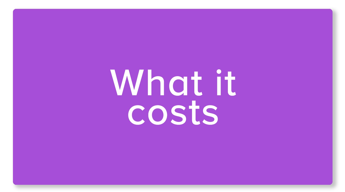 What it costs