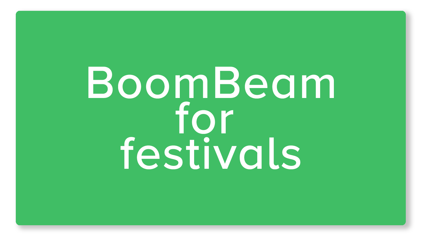 BoomBeam for film festivals
